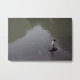 chinese kid Metal Print