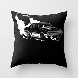 Road Racing Car Nitro Drifting Motif Throw Pillow