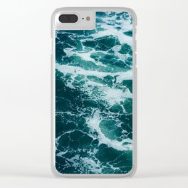 The Water Waves (Color) Clear iPhone Case