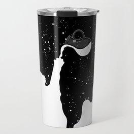 Space Paint Milky Way Cat Travel Mug