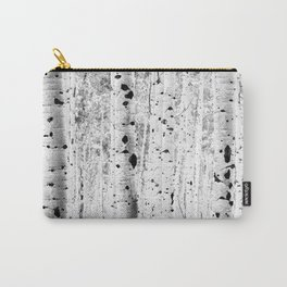 Black and White Aspens Carry-All Pouch