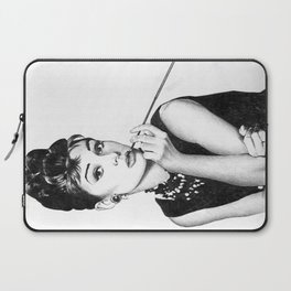 audrey hepburn breakfast at tiffany's Laptop Sleeve