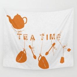 Orange Tea Time II Wall Tapestry