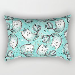 Audrey Mermaid Pattern 05 Rectangular Pillow