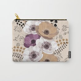 Anemones bouquet in ocher Carry-All Pouch