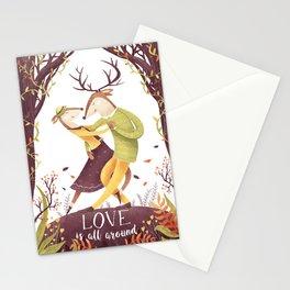 Dancing deers Stationery Cards