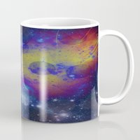pocket fuel Mugs featuring Fuel Trails by AbstractAnomaly
