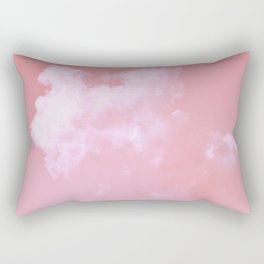 Floating candy with beige pink Rectangular Pillow