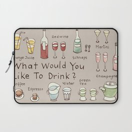 What would you like to drink? Laptop Sleeve