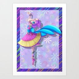 Cute Creepy dancer Art Print