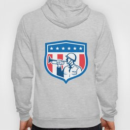 Soldier Blowing Bugle Crest Stars Retro Hoody