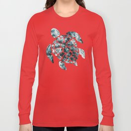 Sea Turtle - Turquoise Ocean Waves Long Sleeve T-shirt