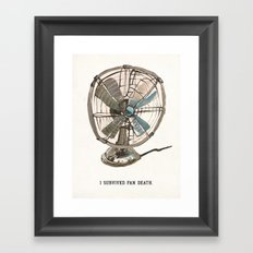 I survived fan death Framed Art Print