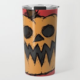 spoopy pumpkin Travel Mug