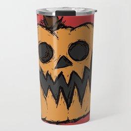 spoopy pumpkin Travel Mug