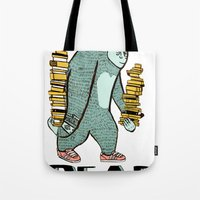 read Tote Bags featuring READ by Zachariah  OHora