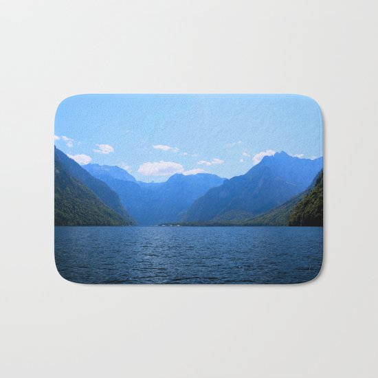 Koenigssee Lake with Alpes Mountains 2 on #Society6 Bath Mat