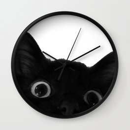 Here's lookin' at mew Wall Clock