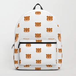 Cute animal faces pattern Backpack