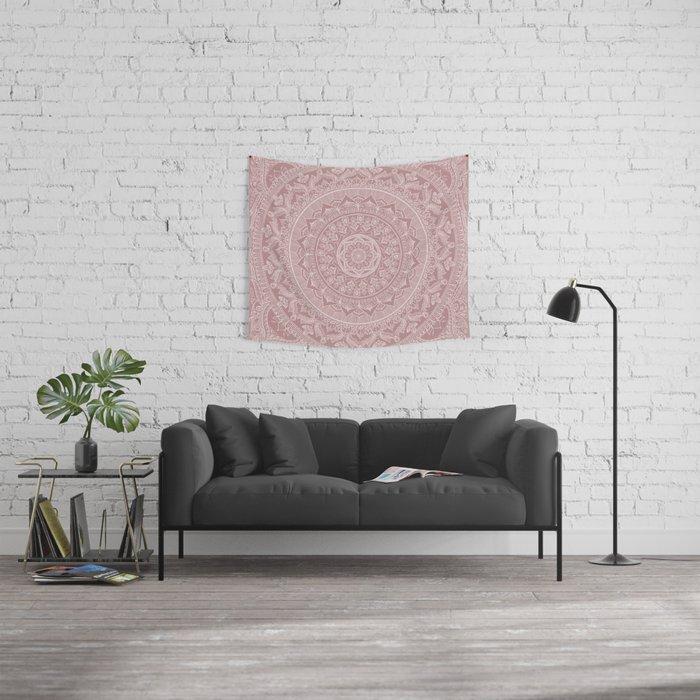Mandala - Powder pink Wall Tapestry