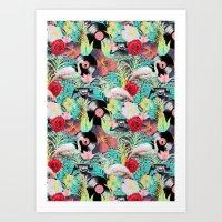 rockabilly Art Prints featuring rockabilly mix by kociara