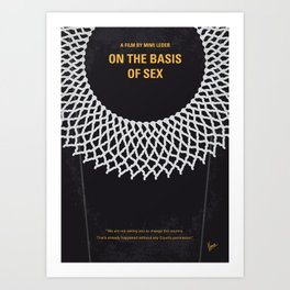 No1040 My On the Basis of Sex minimal movie poster Art Print