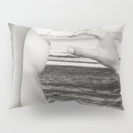 Lesbian Love at Sunrise on the beach Pillow Sham