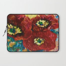 Three Poppies by Lena Owens @OLena Art #Society6 Laptop Sleeve