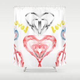 valentines, the day of lovers, love, heart, drawing Shower Curtain