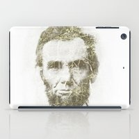 lincoln iPad Cases featuring Abraham Lincoln by Sney1