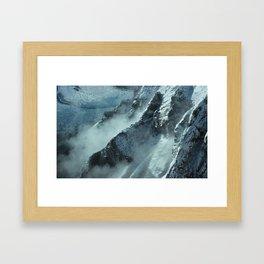Alaska Range, Alaska. Aerial. Framed Art Print