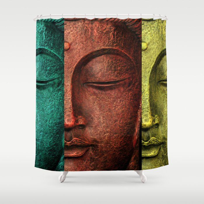 Buddha Shower Curtain By Markashkenazi