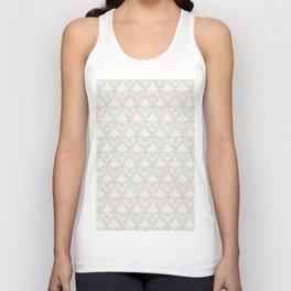 Elegant ivory pastel green lace romantic heart pattern Unisex Tank Top