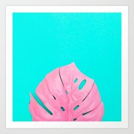 Leaf of Monstera Art Print
