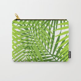 Palm leaf silhouettes seamless pattern. Tropical leaves. Carry-All Pouch