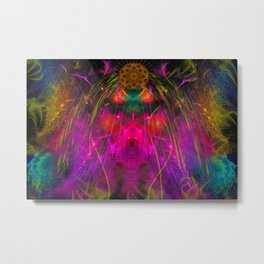 Abstract Angel Face Metal Print
