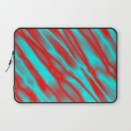 Shiny plaid metal with red intersecting diagonal lines. Laptop Sleeve