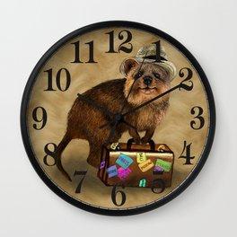 Traveller // quokka Wall Clock