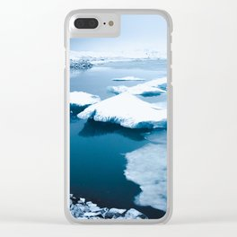 Iceland - Floating Icebergs Clear iPhone Case