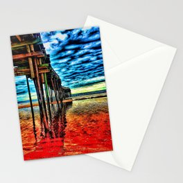 A pier's structure Stationery Cards