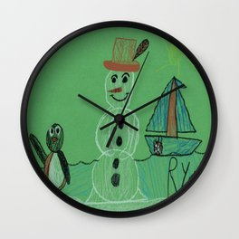 Pingu & Mr. Snowbody Wall Clock