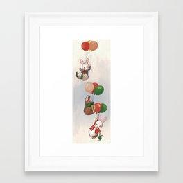 Flying bunnies #2 Framed Art Print