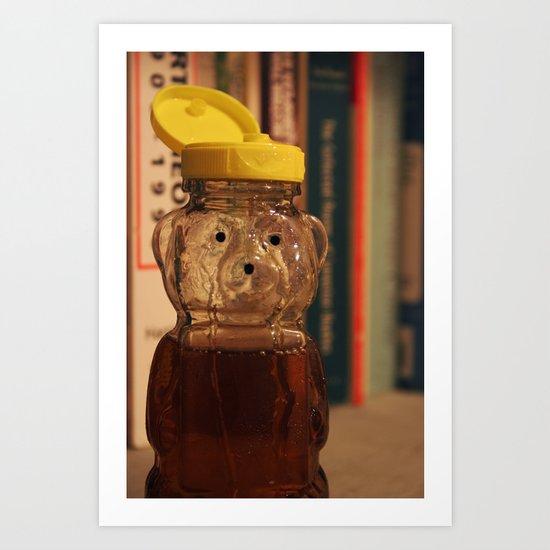 Yellow Top Honey Bear Art Print