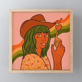 She's Trouble Framed Mini Art Print