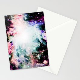 Orion Nebula Deep Pastels Muted Stationery Cards