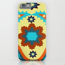 pattern with leaves and flowers paisley style iPhone Case