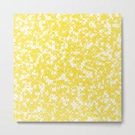 Buttercup Pixels Metal Print