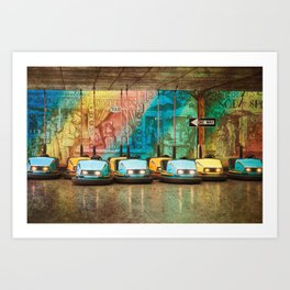 Bumper Cars Art Print