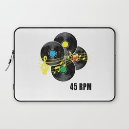 45 RPM Record Hipster LP Laptop Sleeve