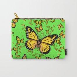 YELLOW BUTTERFLIES GREEN SUMMER ART Carry-All Pouch
